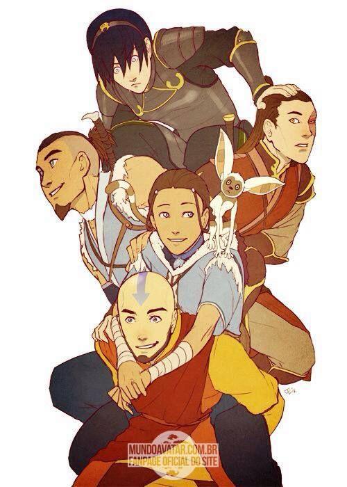 Adult The Legend of Aang, Katara, Sokka, Zuko e Toph