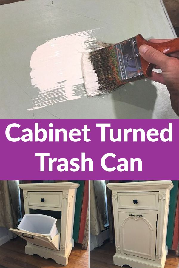The brilliant way this couple hides their ugly kitchen trash can