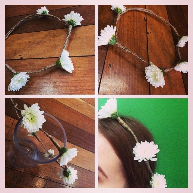 Flower Crown.. Wedding.. White Chrysanthemum