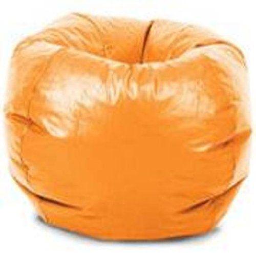 Comfort Research Classic Vinyl Bean Bag Chair, Orange Comfort Research