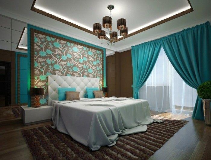 ▷ 1001+ designs stupéfiants pour une chambre turquoise | Chambre a ...