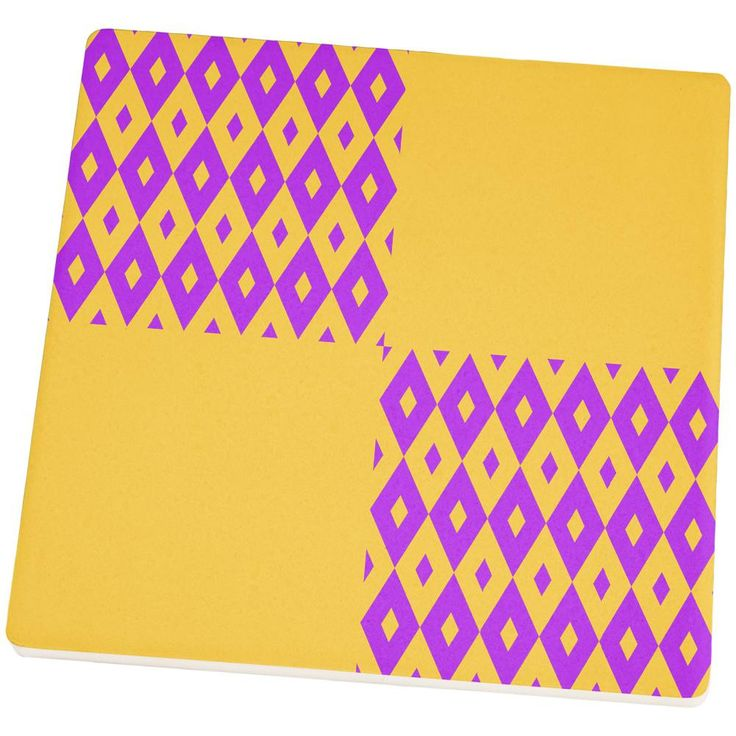 Mardi Gras Party Purple and Gold Set of 4 Square Sandstone Coasters
