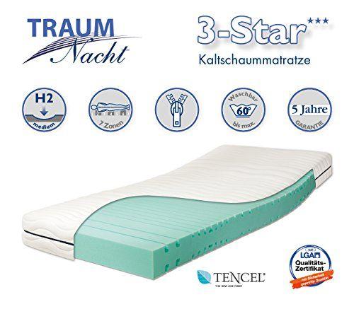 Traumnacht 03891740143 3 Star Orthopdische 7 Zonen Kaltschaummatratze Ks Hrtegrad 2 H2 Kaltschaummatratze Matratze Kalt