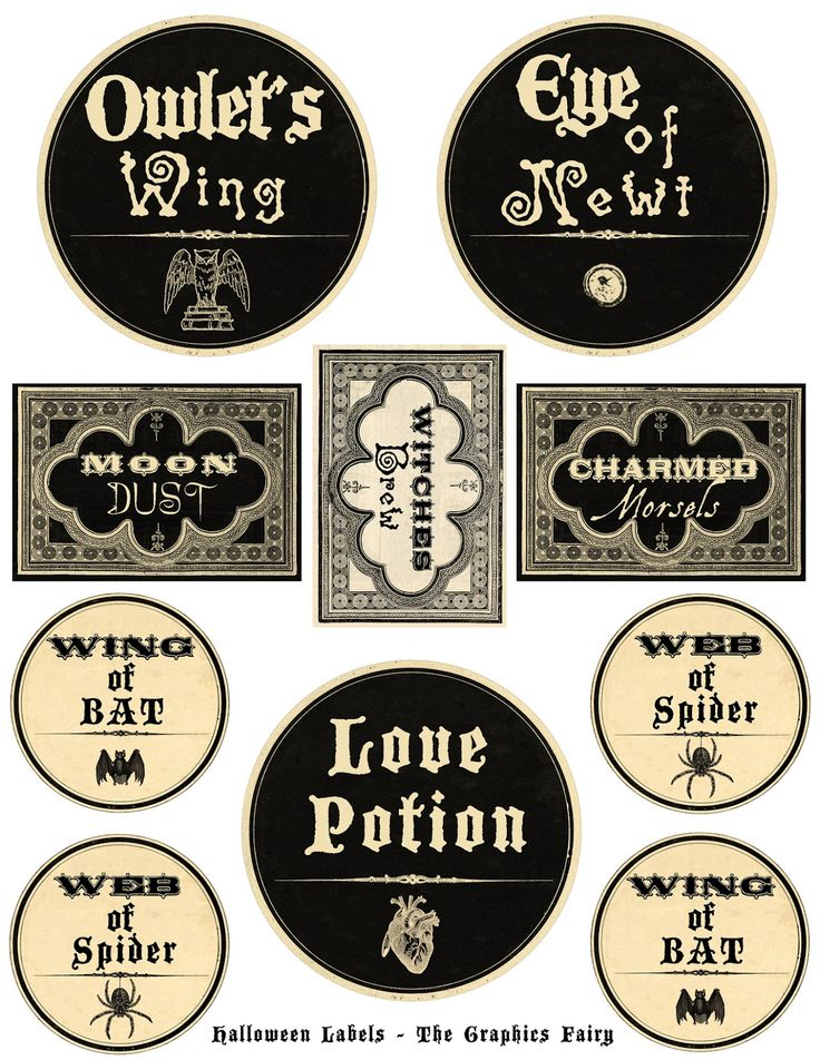 46 best Halloween Labels and Halloween label printables images on - free wine bottle label templates