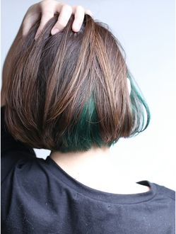 ディーカヘアー Di-KA HAIR 【Di-KA】『innercolor×green×bob』