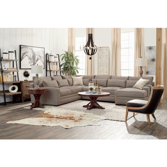 Awesome Winston 4 Piece Sectional With Chaise In 2019 Value City Machost Co Dining Chair Design Ideas Machostcouk