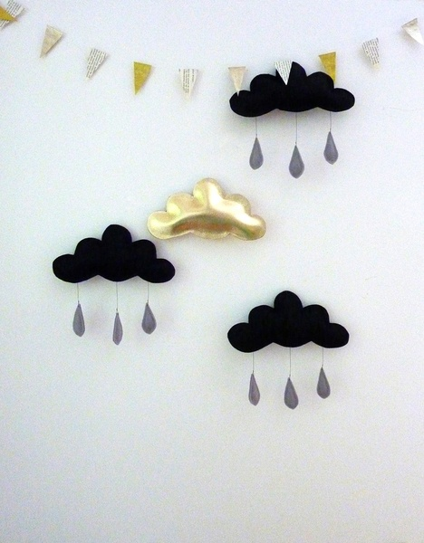 gold and black clouds