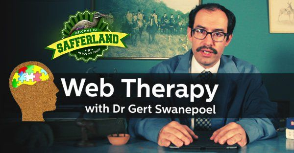 Dr Gert's Web Therapy - The Bisexual Web therapy's new superstar lives in Bloemfontein and likes to braai. Introducing Dr Gert Swanepoel. He's here to help you- so try not to die laughing.  http://www.thesouthafrican.com/dr-gerts-web-therapy-the-bisexual/