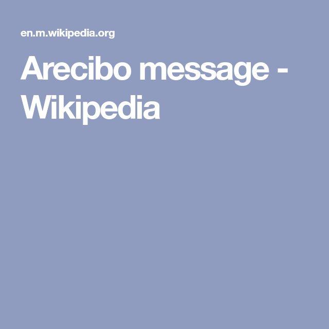 Arecibo message - Wikipedia