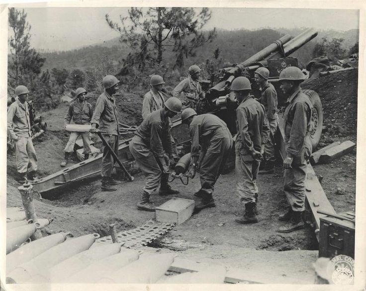 WWII U.S. 37th Infantry Division in Action near Baguio ...