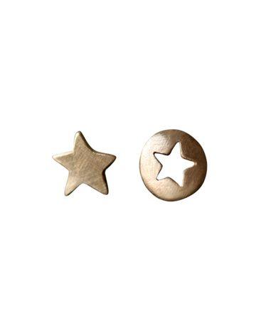 Mismatched Star Cutout Studs