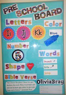 Preschool activities by week