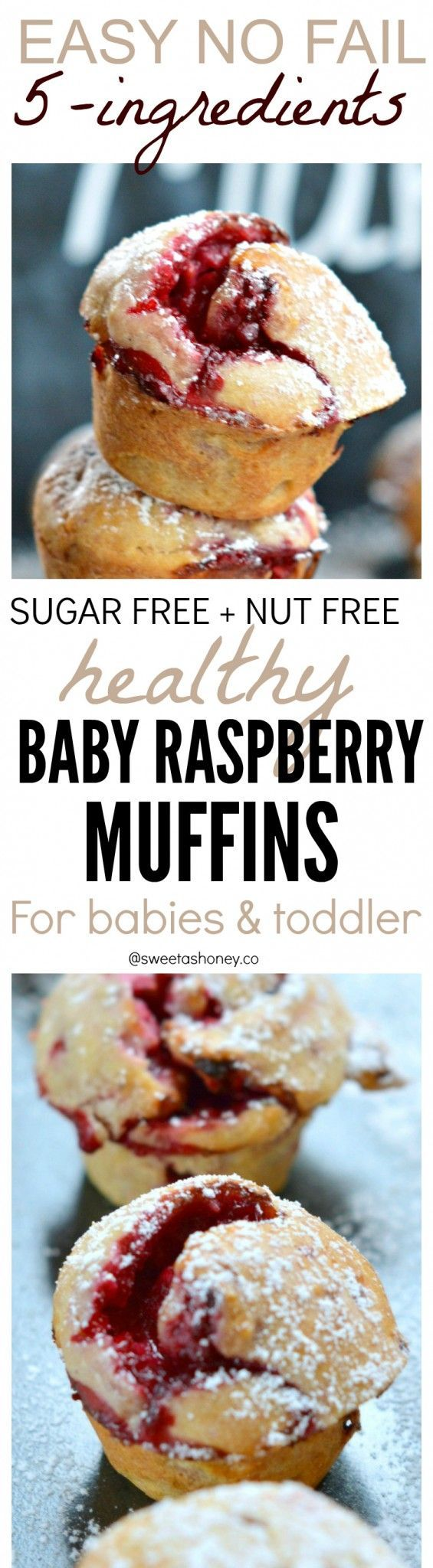 All you need is 5 ingredients to make these healthy Raspberry muffins!