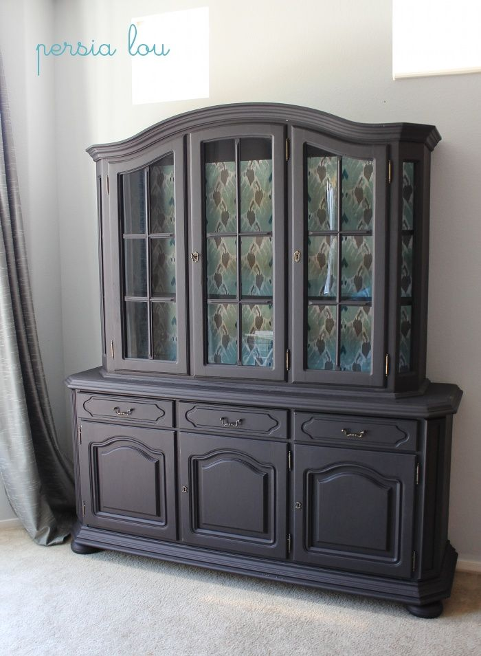 Persia Lou Refinishing Moms Hutch Painted Furniture