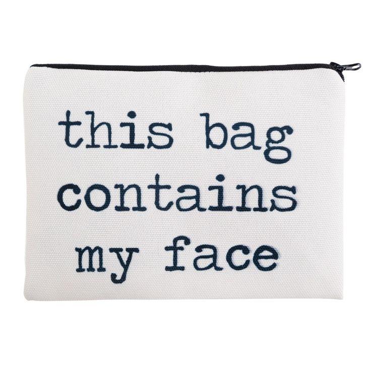 Contains My Face 3D Printing Pencil bags cosmetic bag 2016 Fashion trousse de maquillage makeup bag neceser maleta de maquiagem