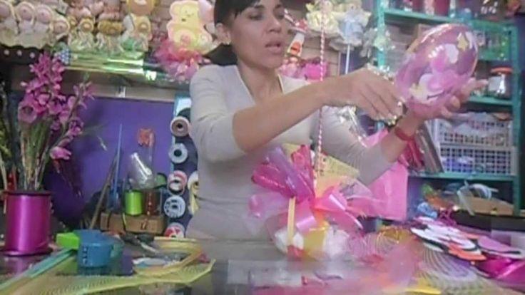 CENTRO DE MESA BABY SHOWER// MANUALIDADES DE VERO