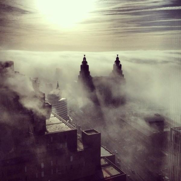 Amazing photo over Liverpool's skyline.....did you see it?