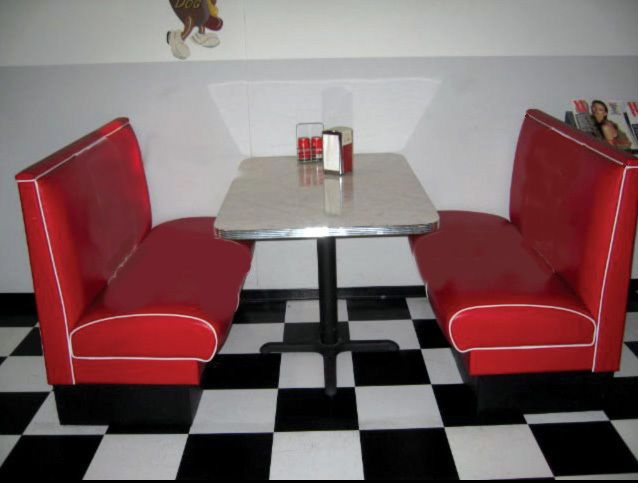 Retro Diner Booth Set New 50 S Style Custom Built For