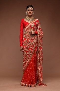 Embroidered Sarees, Embroidered Raspberry Saree