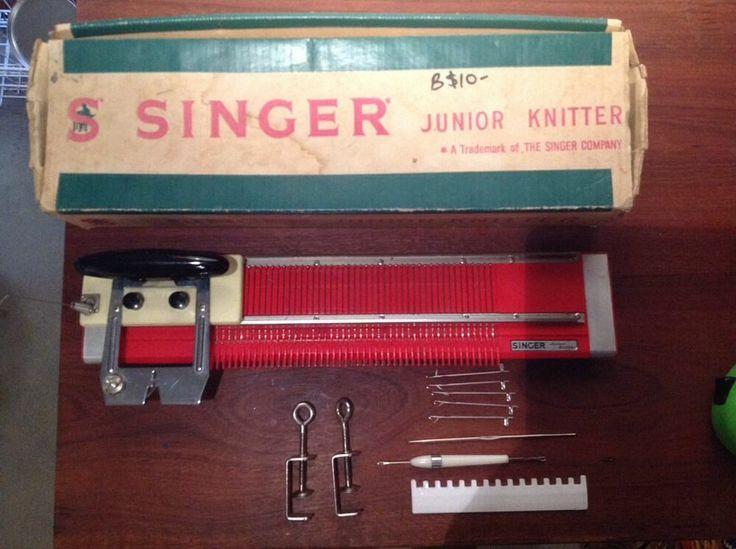 Singer Junior Knitting Machine | Machine knitting, Vintage ...