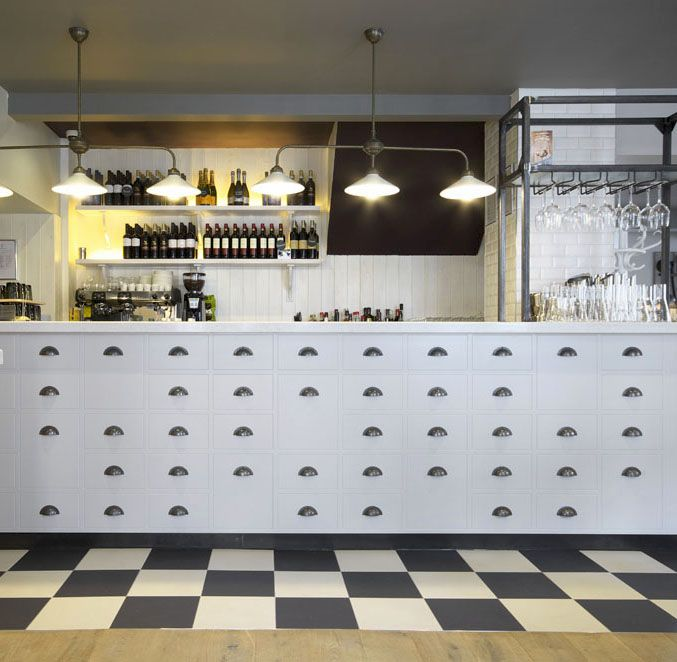 Checkerboard detailing | Zizzi Hereford, 2014
