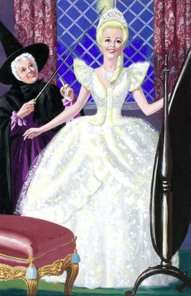 Cinderella -- Cinderella in a white ball gown -- High quality art prints, framed prints, canvases -- Ladybird Prints