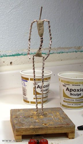 About making a more stable armature for art dolls using wire and Apoxie Sculpt. www.settifineart.com.