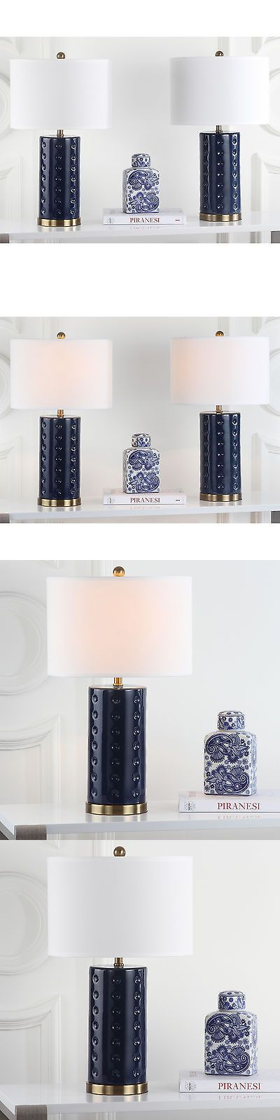 Lamps 112581: Safavieh Lighting 26-Inch Navy Roxanne Table Lamp (Set Of 2) -> BUY IT NOW ONLY: $125.54 on eBay!