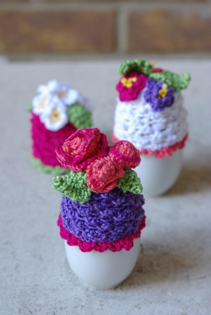 Flowery egg cosies