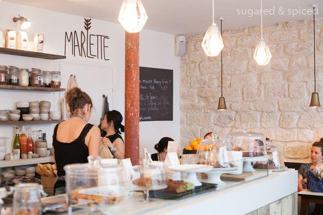 Le Café Marlette, coffee & lunch   51, Rue des Martyrs   Métro: Saint Georges   Paris