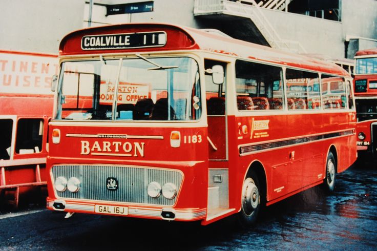 Early 70s. non standard saloons - Barton fleet no.1183, a Willowbrook bodied Bedford YRQ was one of a batch of 11 vehicles purchased new in 1971