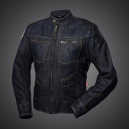 4SR Rowdie Denim Blue Textile Motorcycle Jacket