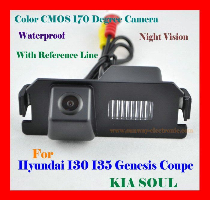 CAR REAR VIEW REVERSE BACK COLOR CMOS /WATERPROOF//170 DEGREE/NIGHT VISION CAMERA FOR HYUNDAI I30 I35 GENESIS COUPE KIA SOUL