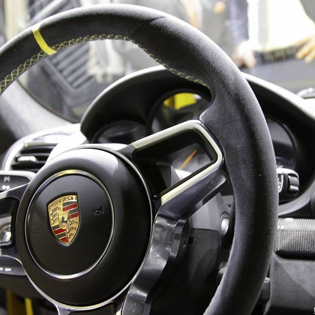 Amazing interior of Porsche 911