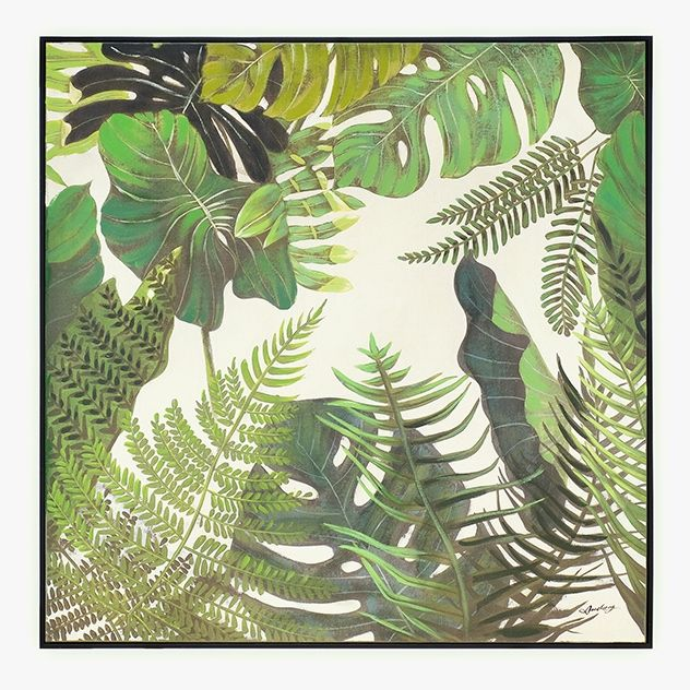 Quadro Folhas 90 x 90 cm | A Loja do Gato Preto | #alojadogatopreto | #shoponline | referência 58868806