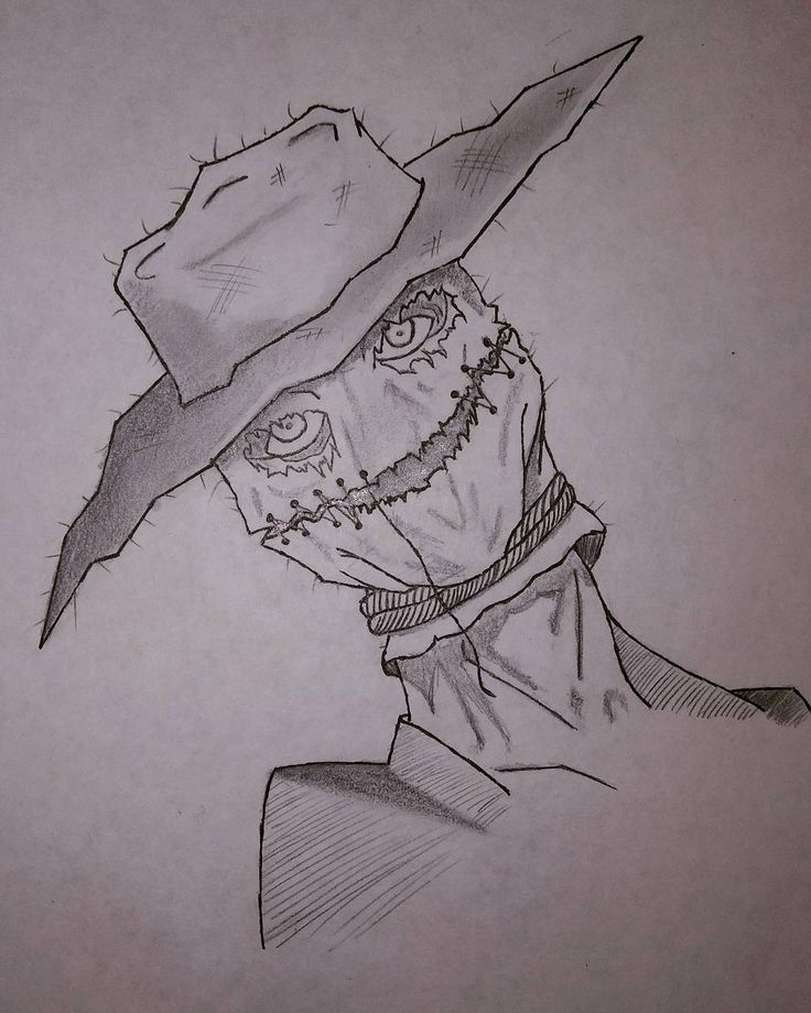scarecrow halloween spooky creepy scarecrow drawing sketch art
