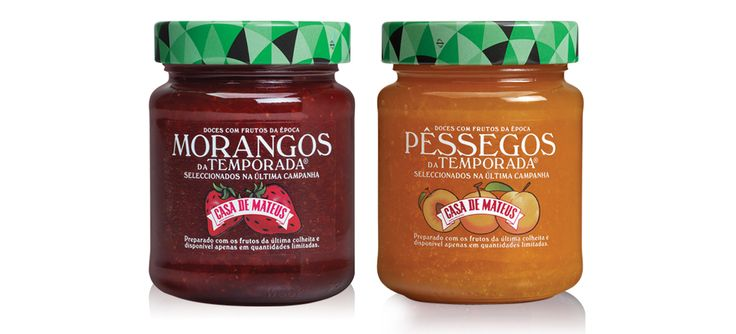 Gama doces Casa de Mateus Temporada #packaging #design #food #jams #strawberry #peach