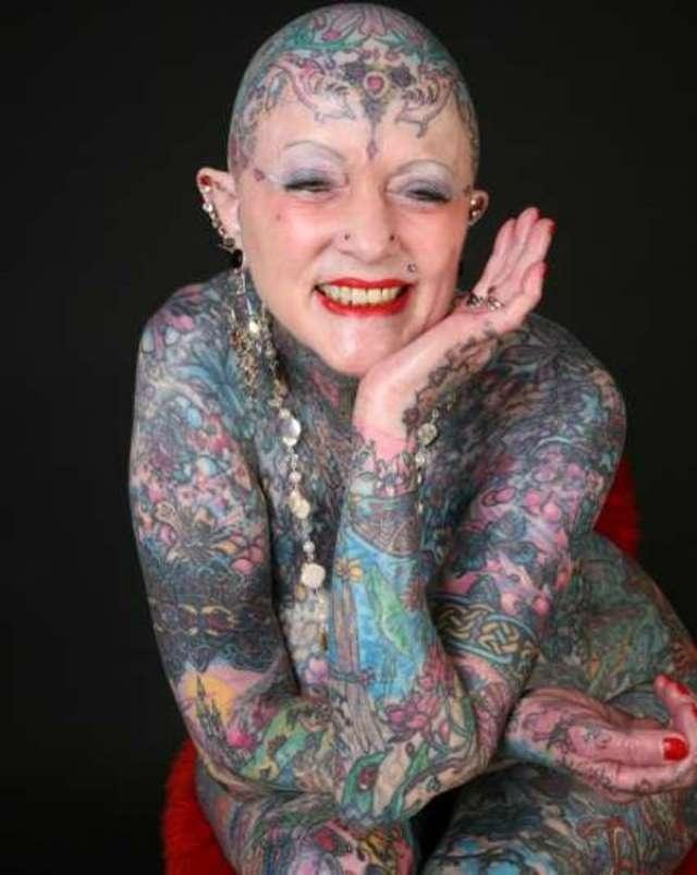 Most Tattooed Woman Nude 14