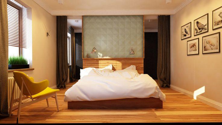 Elegancka sypialnia, luksusowa sypialnia, podójne łóżko w sypialni, meble w stypialni, aranżacja sypialni, pomysły na sypilanię. Zobacz więcej na: https://www.homify.pl/katalogi-inspiracji/17746/jak-urzadzic-sypialnie-gwarantujaca-blogi-sen