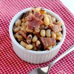 Instant pot black-eyed peas and ham is the perfect dish to make for New Years Day, and pressure cooking makes it so easy!   APinchOfHealthy.com