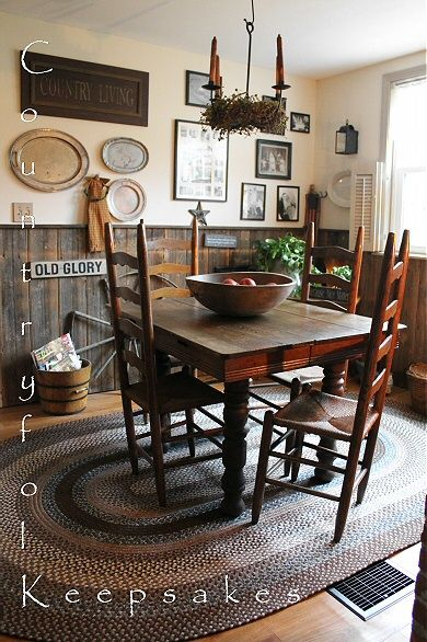 25 best ideas about primitive kitchen on pinterest diy cleaning home appliances hidden microwave and home safe box - Primitive Kitchen Tables