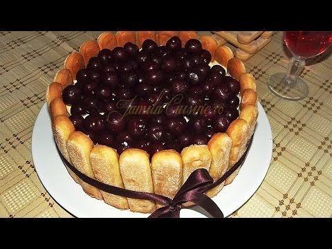 Tort - Tiramisu cu visine | JamilaCuisine - YouTube