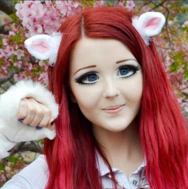 Real Life Anime Girl Ukraine: Anime Makeup, Human Doll, Real Barbie