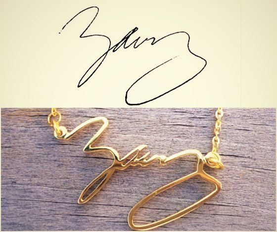 Wow. This is amazing. My mom wrote my name on my social security card and I'd love to have my name in her handwriting!  Handwriting jewelry Signature Necklace by MackenzieTreasury, $37.00