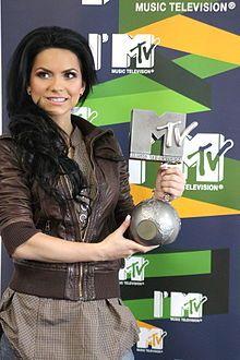 Inna, the first European (Romania) female singer to surpass one billion hits on YouTube.