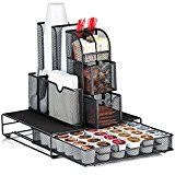 #4: Halter All In One Mesh Coffee Organizer Accessory Bundle  Condiment Caddy Organizer and Heat Resistant Coffee Pod Drawer