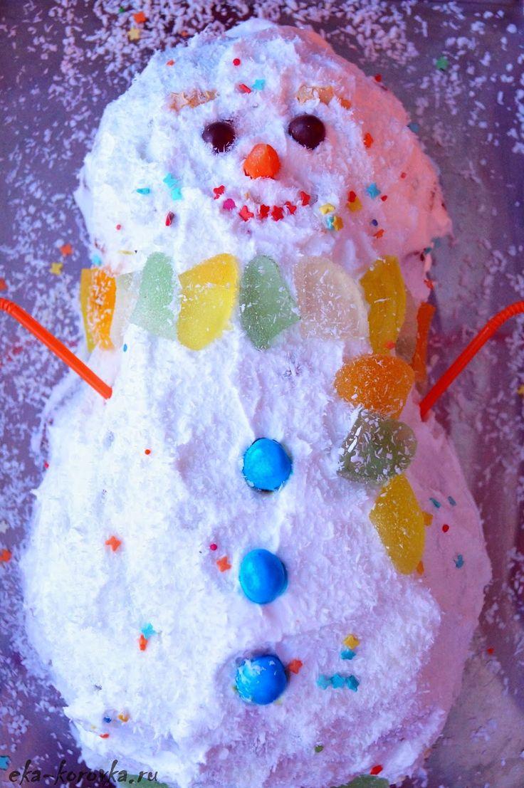 Торт Снеговик | TUTTI FRUTTI или обо всем понемногу...