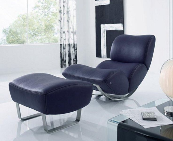 Modern Rocking Chair With Soft Leather Jetlag