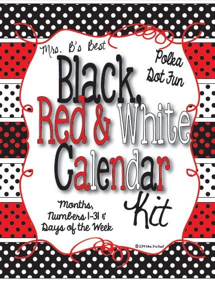 Following along with my popular black, red and white polka dot theme, I created this calendar kit!  Check it and all my other coordinating products out today :)