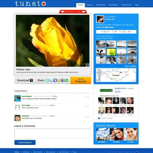 Design for Online Photo Gallery Website Project